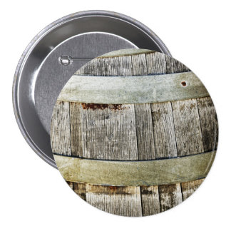 Wine Barrel 3 Inch Round Button