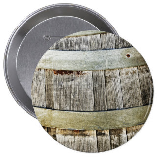 Wine Barrel 4 Inch Round Button