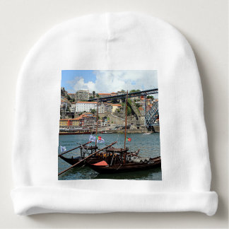 Wine barrel boats, Porto, Portugal Baby Beanie