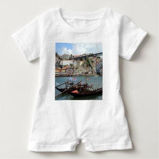 Wine barrel boats, Porto, Portugal Baby Romper