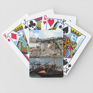Wine barrel boats, Porto, Portugal Bicycle Playing Cards