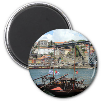 Wine barrel boats, Porto, Portugal Magnet