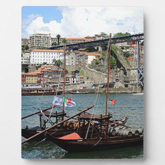Wine barrel boats, Porto, Portugal Plaque