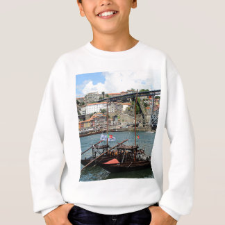 Wine barrel boats, Porto, Portugal Sweatshirt