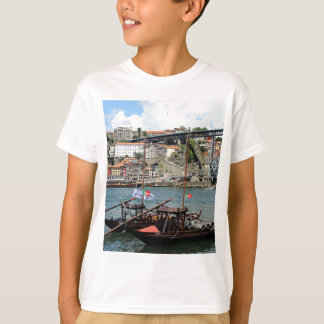 Wine barrel boats, Porto, Portugal T-Shirt