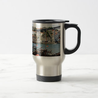 Wine barrel boats, Porto, Portugal Travel Mug