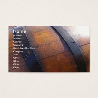 Wine Barrel Business Card