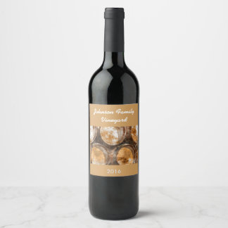 Wine Barrel Customizable Wine Label