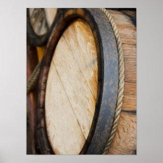 Wine Barrel Lid Closeup Poster