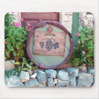 Wine barrel mouse pad