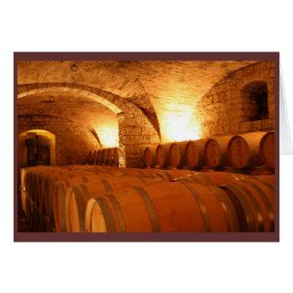 Wine Barrel Notecard