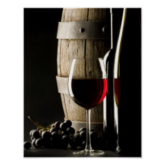 Wine Barrel Poster