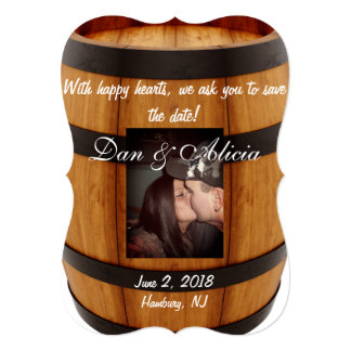Wine Barrel Save the Date Card