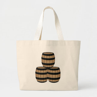 Wine Barrels Large Tote Bag