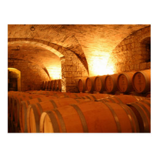 Wine Barrels Postcard