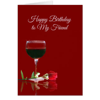 Wine Birthday Card for Friend