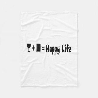 Wine + Book = Happy Life Blanket