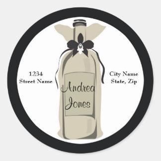Wine Bottle Address Label