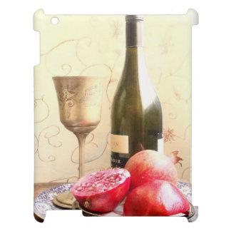 Wine Bottle And Pomegranates iPad Cover