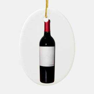 Wine Bottle (Blank Label) Ornament