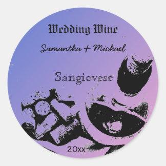 Wine Bottle Corks Sketch Custom Wedding Wine Label