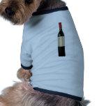 Wine bottle design pet tshirt