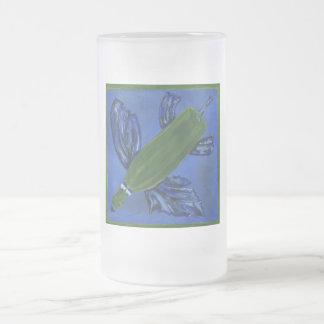 Wine Bottle Fish Frosted Glass Mug