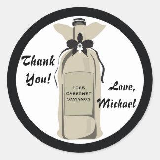Wine Bottle Gift Label Round Sticker