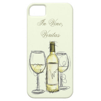 "wine bottle ""in vino veritas"" iphone case"