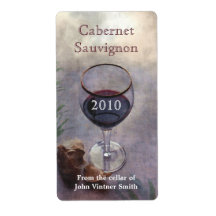 Wine bottle label