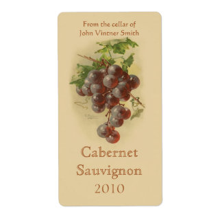 Wine bottle label shipping label