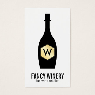 Wine Bottle | Lux Business Card