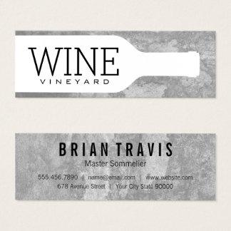Wine Bottle Mini Business Card