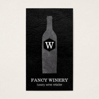 Wine Bottle | Slate | Monogram Business Card