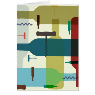 Wine bottle themed greeting card