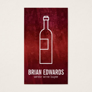 Wine Bottle (white) | Artistic Red Business Card