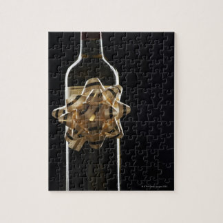 Wine bottle with bow puzzles