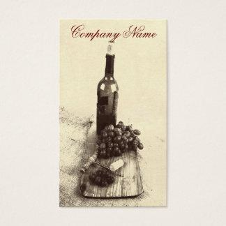 Wine bottles business card template