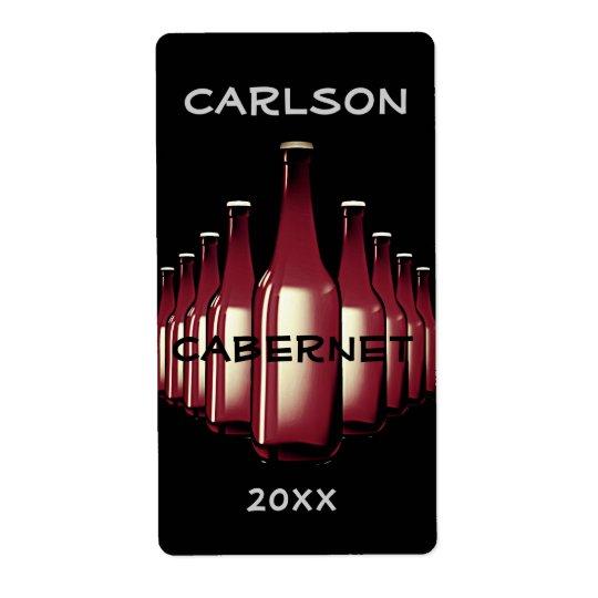 Wine Bottles Label Shipping Label