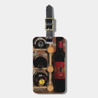 Wine Bottles Luggage Tag