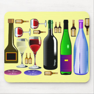 Wine bottles mouse pad