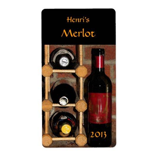 Wine Bottles Shipping Label