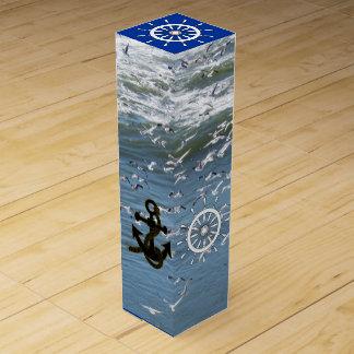 Wine Box - Ocean Gulls and Nautical Theme