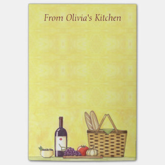 Wine, Bread & Oil Personalized Post-it Notes