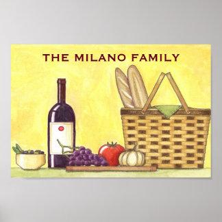 Wine, Bread & Oil Poster