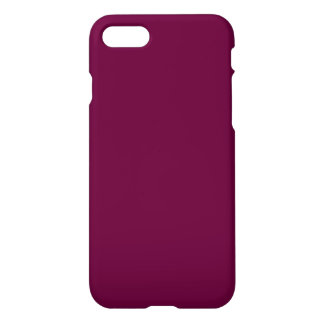 Wine Burgundy Solid Color Simple Plain iPhone 7 Case