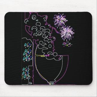Wine Celebration in Neon-Mousepad
