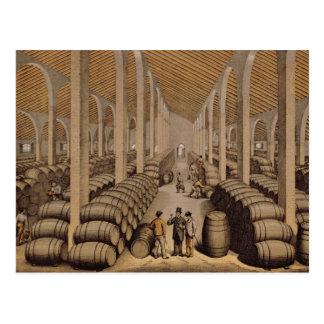 Wine Cellar at Jerez de la Frontera Postcard