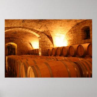 Wine Cellar Barrells Poster