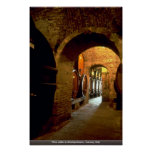 Wine cellar in Montepulciano, Tuscany, Italy Posters